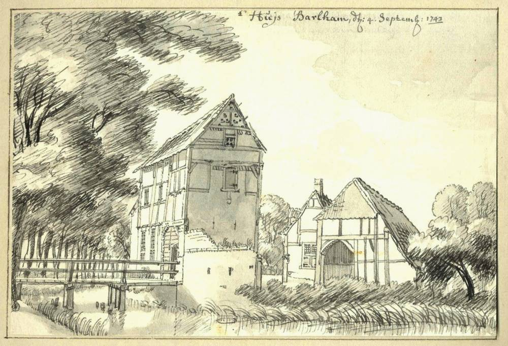 Barlham in Doetinchem. Tekening Jan de Beijer, 1743